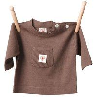 Merino Top in Chocolate from Nurtured By Nature, Baby Clothing