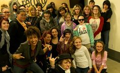 Sleater-Kinney with the students and staff of Youth on Record.