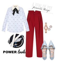 """""""Power look"""" by claudyabenedicta on Polyvore featuring RED Valentino, Gucci, Miu Miu, Chanel, Michael Kors and polyvorecontest"""