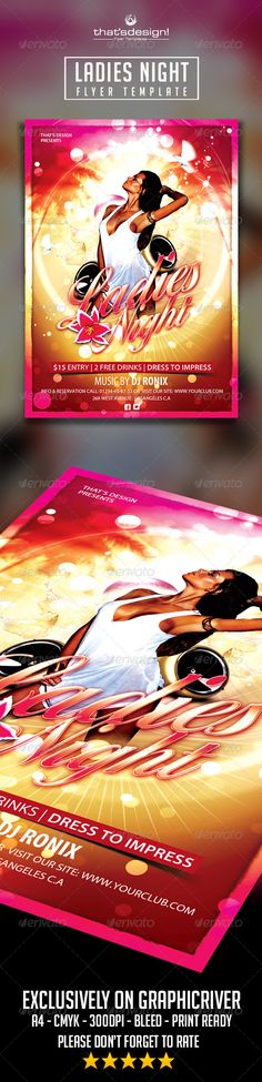 Sensual Ladies Night Flyer Template Official website : http://thats-design.com/