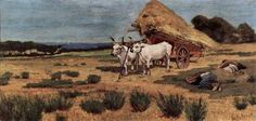 Giovanni Fattori, Pause in the Maremma with farmers and ox-cart, 1873–75 on…