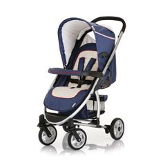 Hauck Malibu All-in-One Stroller in Navy/Violet color is available now at Baby Gearin! #hauck #hauckstroller #hauckmalibu #allinonestroller #singlestroller #navystroller #violetstroller