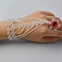 Do you like slave bracelets? In this article, I'll show you how to make a bling beaded slave bracelet with glass beads and seed beads. Hope you like the beaded slave bracelet.