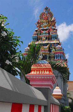 Hindu temple near Grand Bay … Grand Baie Ile Maurice, Mauritius Island, Bahamas, Hindu Temple, Photos Voyages, Gifts For Photographers, Summer Barbecue, Square Photos, Lugares