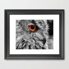 ORANGE OF MY EYE Framed Art Print by Catspaws - $37.00