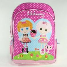 "16"" Lalaloopsy Large Backpack-tote-bag-school by FAB. $17.47. Approximate Dimensions: 12"" x 16"" x 5""Adjustable Padded Straps1 Main Compartment with Zipper Closure1 Front pocket with Zipper Closure2 Side Mesh Pockets for water bottles16 x 12 x 2 inches ; 1.5 pounds - 1.5 poundsManufacturer Recomended Age: 3 years and up"