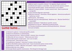rebus nicolae oana: Lume-lume... Crossword, Oscar Wilde, Mai, Crossword Puzzles