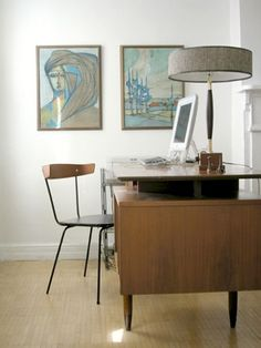 I love this desk and lamp!  MCM