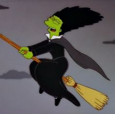 Marge the witch in the Simpsons Halloween! Halloween Profile Pics, Vintage Halloween, Happy Halloween, Halloween Gif, Halloween Icons, Halloween 2016, Simpsons Halloween, Simpsons Treehouse Of Horror, Simpsons Art