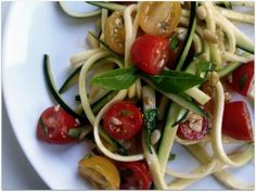 Gojee - Zucchini Pasta with Garlic and Tomato by Evil Chef Mom