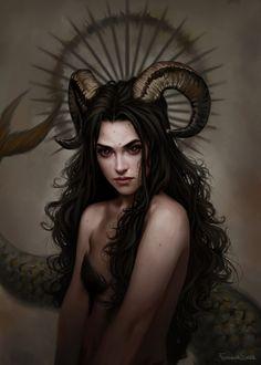 Capricorn, Fernanda Suarez on ArtStation at https://www.artstation.com/artwork/WPeyG