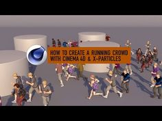 How to create a running crowd with Cinema 4D & X-Particles - YouTube