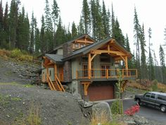 small timber frame homes | Timber Frame Chalet on Bella Vista