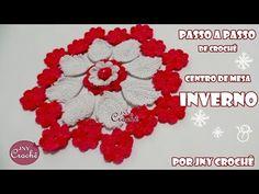 Centro de mesa Inverno com a Flor Batom - JNY Crochê - YouTube