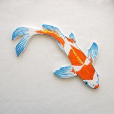 Koi  Mosaic tile ceramic fish hand painted art Tiles for Mosaics by ArtTileMosaics supply