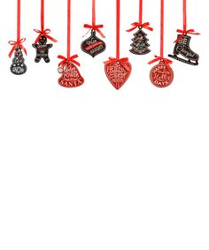 Another great find on #zulily! Christmas Message Ornament Set #zulilyfinds