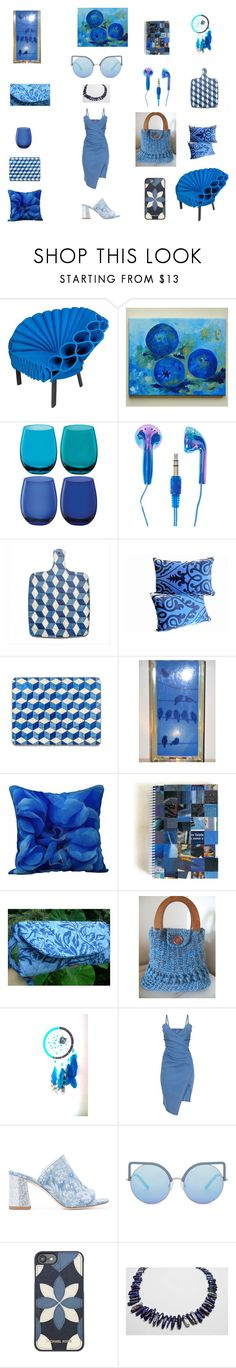 Denim Blue Home Decor Ideas by einder on Polyvore featuring interior, interiors, interior design, home, home decor, interior decorating, Cappellini, LSA International, Polly Plume and Michael Kors
