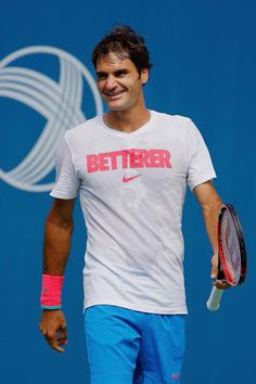 Clever and sweaty. The Betterer shirt. Roger Federer