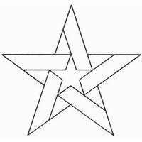 Five Pointed Star Block continuous line stencil. Stencil is made of Mylar plastic with the displayed design cut into Five Pointed Star Block continuous line stencil. Stencil is made of Mylar plastic with the displayed design cut into it. Barn Quilt Designs, Barn Quilt Patterns, Pattern Blocks, Quilting Designs, Star Patterns, Stained Glass Projects, Stained Glass Patterns, Patchwork Quilting, Scrappy Quilts