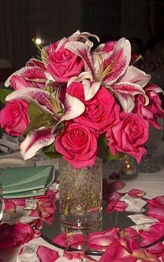 Spring Wedding centerpiece Pink Flower Centerpieces, Spring Wedding Centerpieces, White Centerpiece, Wedding Bouquets, Wedding Flowers, Wedding Decorations, Table Centerpieces, Mirror Centerpiece, Spring Weddings