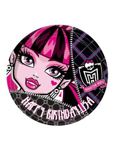 Your party will be ldquo; with our fierce and freaky fabulous Monster High Lunch plates. Package includes 8 lunch plates of 23 cm. featuring a super cool zipper effect with the Monster High logo in a black background with a . Soirée Monster High, Cumple Monster High, Childrens Gifts, Childrens Party, Overlays, Image Monster, Draculaura, Girl Birthday Themes, Birthday Ideas