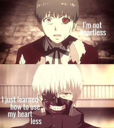 I'm not heartless. I just learning how to use my heart less.