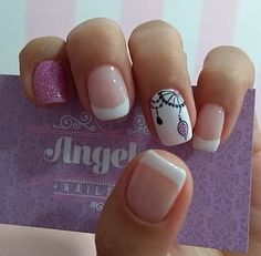 Floral Nail Art, Nails, Beauty, Finger Nails, Stiletto Nails, Pretty Nails, Short Nail Manicure, Cute Nails, Nail Polish