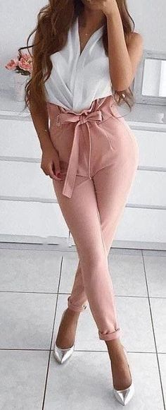 9dbf8c5aefd8d 20 Best Pink capris images | Cute outfits, Casual outfits, Dressing up