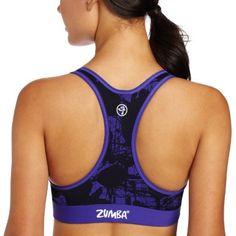 56ff879039 Zumba Fitness LLC Women s Pretty In Print V-Bra Top