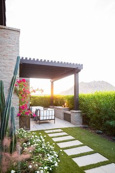 Private Patio Small Patio Out Of Master Bedroom With Pergola And Outdoor  Fireplace #patio #