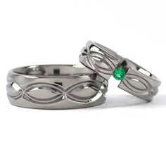 new infinity his and hers tension set titanium wedding rings - Infinity Wedding Ring Set