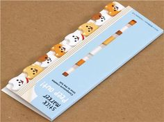 cute doggy bookmark stickers Post-it