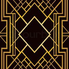 Сток вектор 'Арт-деко геометрическим рисунком (1920-х годов стиль)'