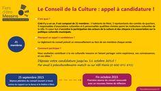Vous souhaitez contribuer à la vie culturelle messine en faisant partager votre expérience, vos connaissances, et vos idées ?  Déposez votre candidature jusqu'au 11 octobre 2015 !