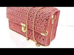 Crochet Clutch Bags, Crochet Handbags, Crochet Purses, Crochet Lace, Crochet Stitches, Crochet Bag Tutorials, Crochet Projects, Crochet Cardigan Pattern, Crochet Patterns