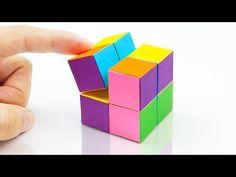 手作りおもちゃ/折り紙のおもしろキューブ - YouTube