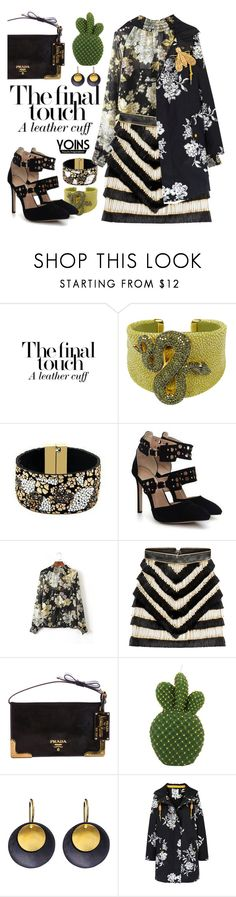 """""""Flower power with yoins"""" by pensivepeacock ❤ liked on Polyvore featuring Latelita, Balmain, Prada, Hissia, Joules and Chaumet"""