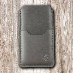 Bestens geschützt: iPhone X Leder Tasche Ledertasche: feines, edles & elegantes Rind-Leder mit Wachsgriff & feinster Wollfilz für Ihre iPhone Ledertasche