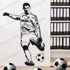 Wall Sticker decor  Football soccer  Cristiano Ronaldo