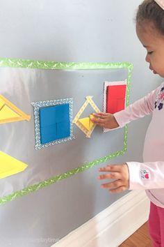 SHAPE STICKY WALL PUZZLES – HAPPY TODDLER PLAYTIME