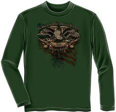 cd7ae886 2nd Amendment Long Sleeve T Shirt Gun Military To Bear Arms Eagle NRA TEE  S-3XL #ErazorBits #GraphicTee