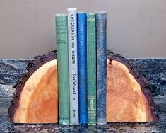Image result for diy rustic bookends