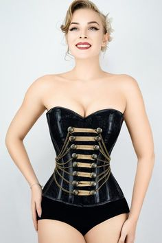 c6105f123fc Waist Taming Classic Black Overbust Corset With Hip Gores - 20
