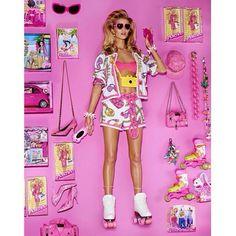 Must-See:+Rosie+Huntington-Whiteley+as+a+Real-Life+Barbie+via+@WhoWhatWear