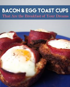 bacon egg cups- make in toaster oven