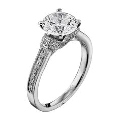 White Gold (H/SI) Ladies Oval Cut Center Focus Diamond Engagement Ring From the Radiance Collection by Scott Kay Elegant Engagement Rings, Diamond Engagement Rings, Solitaire Diamond, Scott Kay, Wedding Wishes, Ring Designs, Swarovski, White Gold, Jewels