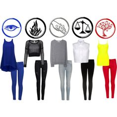 Here's some divergent factions outfits, just in case you didn't want to wear a dress! :)  lol!  I totally understand.