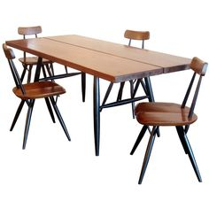 Ilmari Tapiovaara Pirkka table and chairs