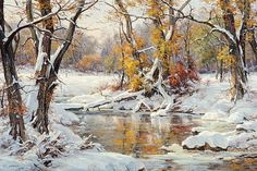 View Morning Stillness by Clyde Aspevig on artnet. Browse upcoming and past auction lots by Clyde Aspevig. Painting Snow, Winter Painting, Winter Art, Watercolor Landscape, Landscape Art, Landscape Paintings, Clyde Aspevig, Winter Scenery, Seascape Paintings