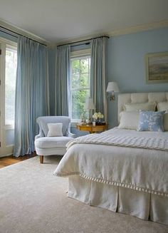 blue and cream bedroom – Sistem As Corpecol